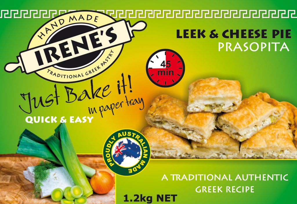 Irene's Pastry - Leek & Cheese Pie